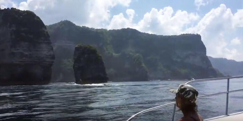 yoga teacher training students on boat nusa penida